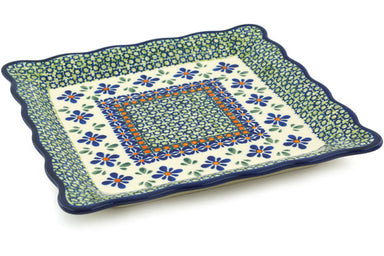 "9"" Platter - Emerald Mosaic 