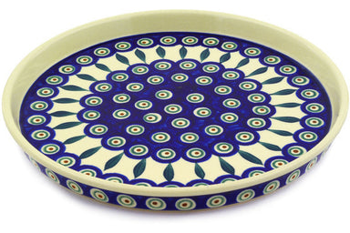 "9"" Cookie Platter - Peacock 