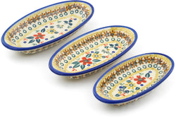 Set of 3 Nesting Condiment Dishes - P9336A | Polish Pottery House