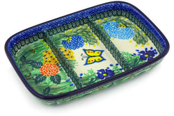 "10"" Divided Dish - Spring Garden 