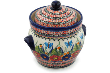 15 cup Canister - Butterfly Garden | Polish Pottery House