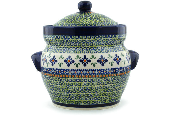 15 cup Canister - Emerald Mosaic | Polish Pottery House