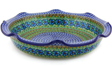 11 cup Scalloped Bowl - Moonlight Blossom | Polish Pottery House
