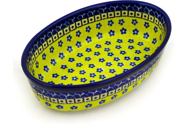 "8"" Oval Baker - Blue Sunshine 