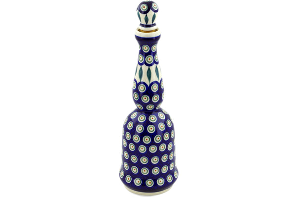 22 oz Bottle - Peacock | Polish Pottery House