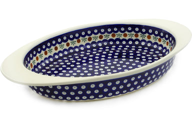 "17"" Oval Baker with Handles - Old Poland 