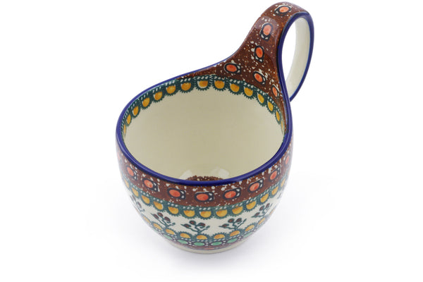 16 oz Soup Cup with Handle - Desert Sun | Polish Pottery House