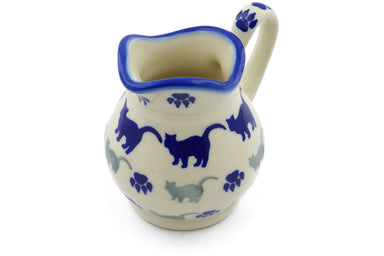 4 oz Creamer - Cats on Parade | Polish Pottery House