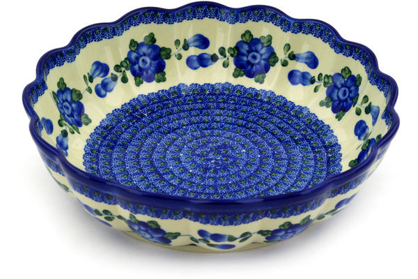 10 cup Scalloped Bowl - Heritage | Polish Pottery House