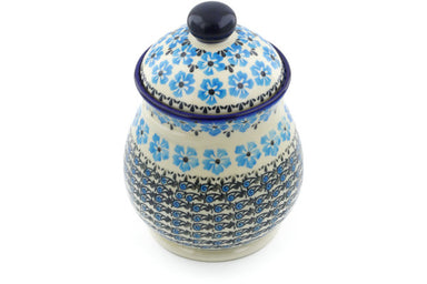 6 cup Jar with Lid and Handles - P9315A | Polish Pottery House