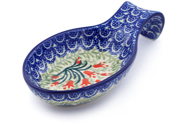 "7"" Spoon Rest - Crimson Bells 
