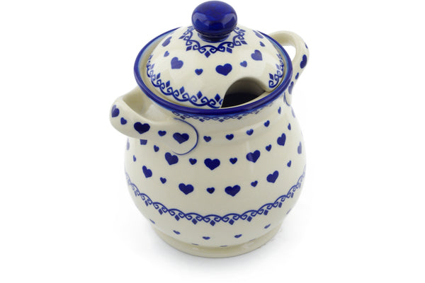 6 cup Jar with Lid and Handles - P8966A | Polish Pottery House