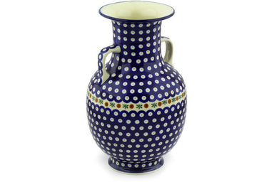 "12"" Vase - Blue Old Poland 