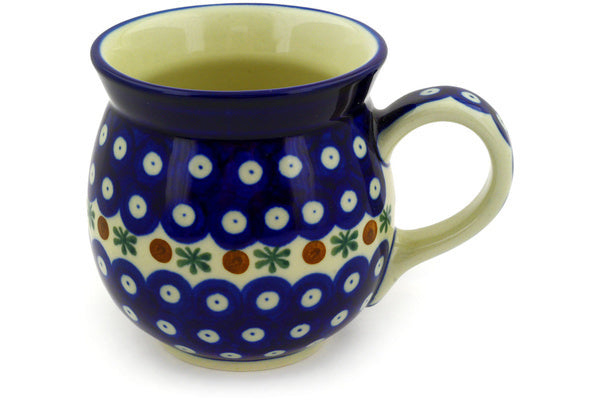 15 oz Bubble Mug - Blue Old Poland | Polish Pottery House