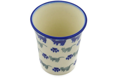 4 oz Tumbler - Cats on Parade | Polish Pottery House