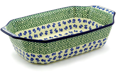 "8"" x 14"" Rectangular Baker with Handles - 49X 