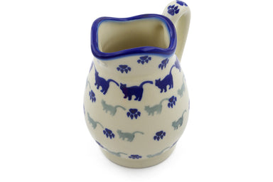 11 oz Creamer - Cats on Parade | Polish Pottery House