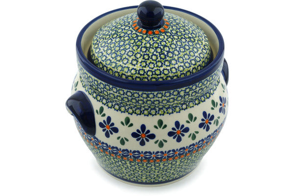 7 cup Canister - Emerald Mosaic | Polish Pottery House