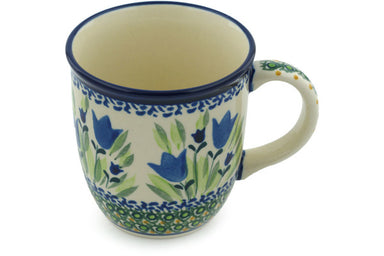 12 oz Mug - Blue Tulips | Polish Pottery House