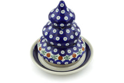 "7"" Christmas Tree Candle Holder - Old Poland 