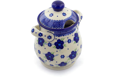 6 cup Jar with Lid and Handles - D1 | Polish Pottery House