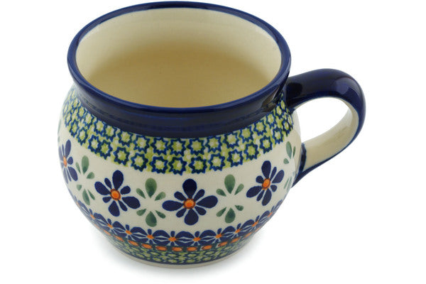 15 oz Bubble Mug - Emerald Mosaic | Polish Pottery House
