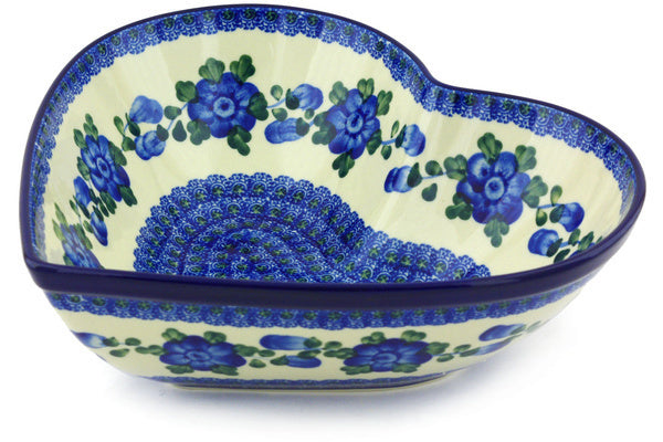 8 cup Heart Bowl - Heritage | Polish Pottery House