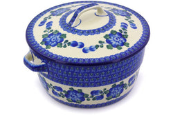 9 cup Covered Baker with Handles - Heritage | Polish Pottery House