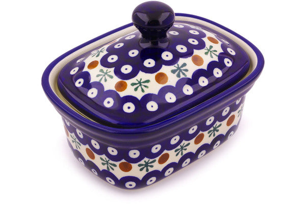 "6"" Butter Dish - Blue Old Poland 