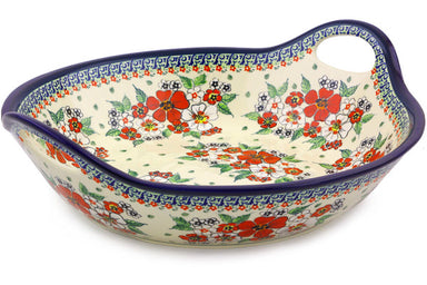19 cup Serving Bowl with Handles - Oriental Blossom | Polish Pottery House