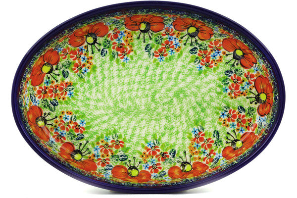 "11"" Oval Baker - Poppy Parade 