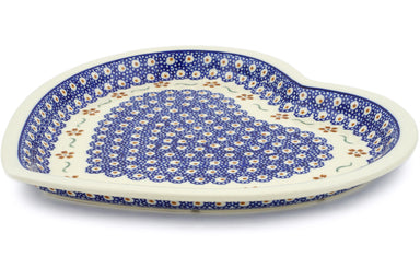 "11"" Heart Platter - Crimson Peacock 