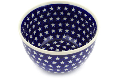 10 cup Mixing Bowl - Stars | Polish Pottery House