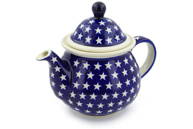 7 cup Tea Pot - Stars | Polish Pottery House