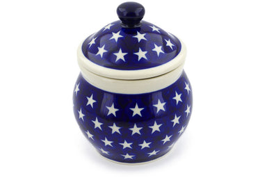 16 oz Canister - Stars | Polish Pottery House