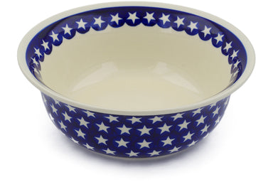 8 cup Serving Bowl - Stars | Polish Pottery House