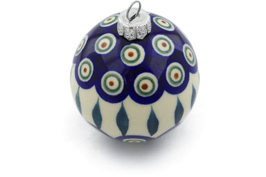 "3"" Ornament Christmas Ball - Peacock 