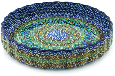"9"" Fluted Pie Plate - Moonlight Blossom 