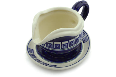 21 oz Gravy Boat with Saucer - 137 | Polish Pottery House