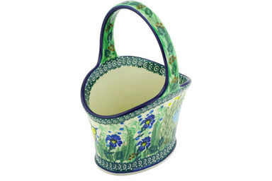"7"" Basket with Handle - Spring Garden 