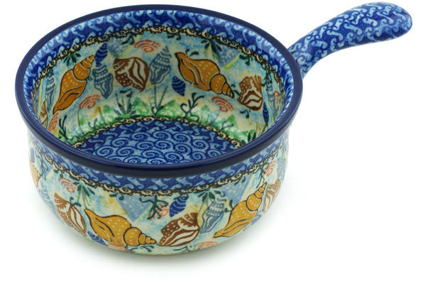 "6"" Round Baker with Handles - Sea Shell 