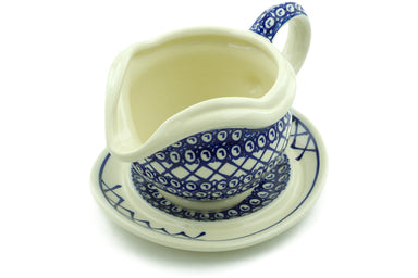 21 oz Gravy Boat with Saucer - 102 | Polish Pottery House