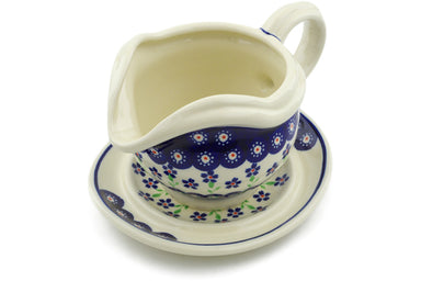 21 oz Gravy Boat with Saucer - 912 | Polish Pottery House