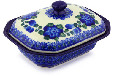 13 oz Covered Baker - Heritage | Polish Pottery House