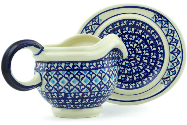 21 oz Gravy Boat with Saucer - 910 | Polish Pottery House