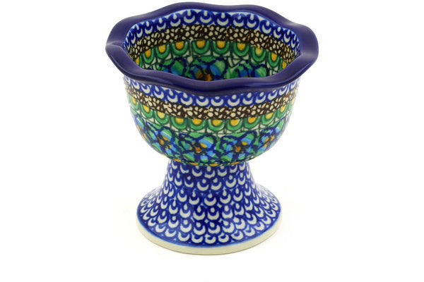 "4"" Pedestal Bowl - Moonlight Blossom 
