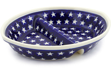 "9"" Divided Dish - Stars 