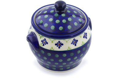 4 cup Canister - Emerald Isle | Polish Pottery House