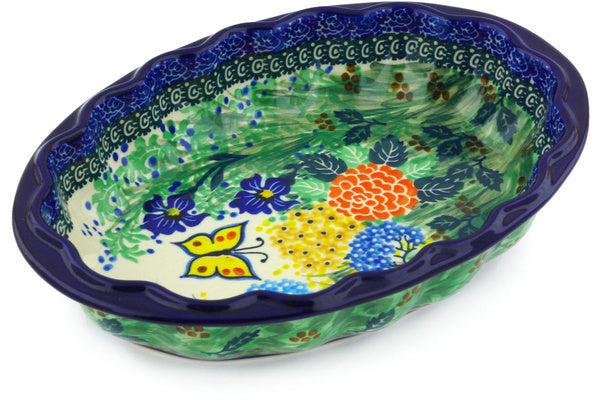 4 cup Serving Bowl - Spring Garden | Polish Pottery House