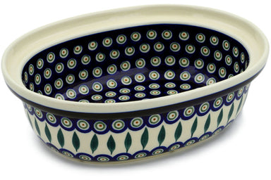 "13"" Oval Baker - Peacock 